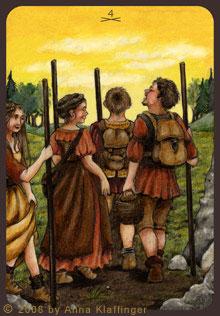 Vier der Stäbe